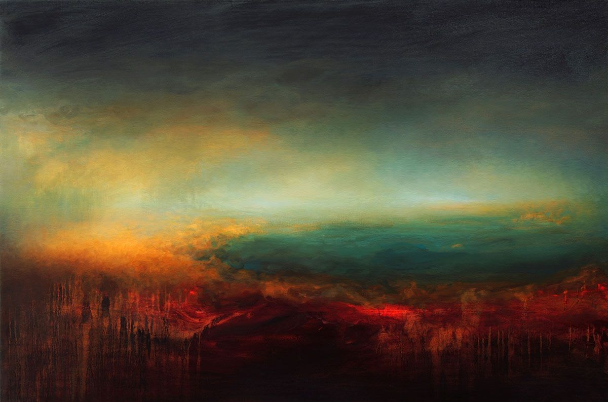Abstract wave painting by Samantha Keely Smith