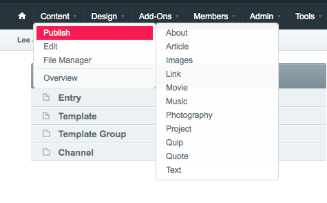 How channels appear in the CP