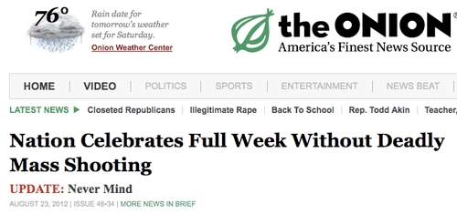 'Nation Celebrates Full Week Without Deadly Mass Shooting. Update: Never Mind'