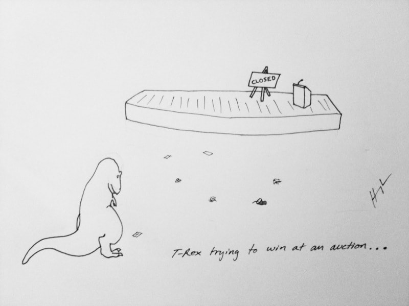 T-rex trying to auction