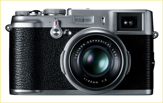 The front of the Fuji X100