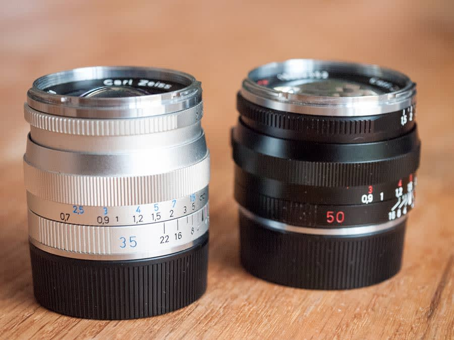 The Zeiss ZM 35mm f/2 Biogon and 50mm f/1.5 C Sonnar