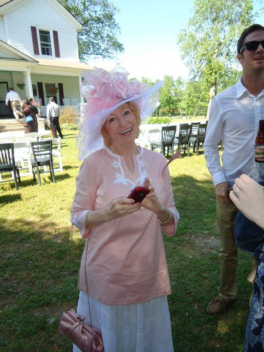 Grandmother in a gigantic frilly hat