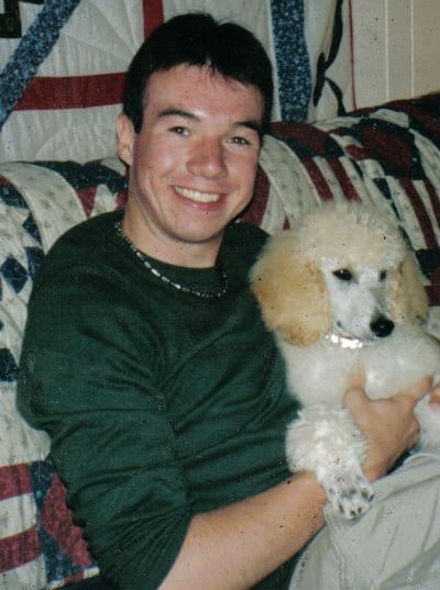 Me and Murphy as a puppy