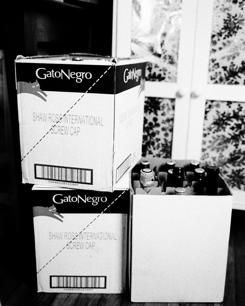 Several cases of wine