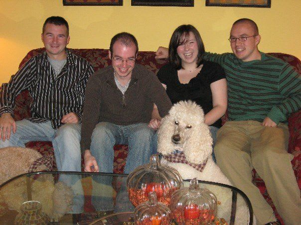 All of us siblings and the dogs