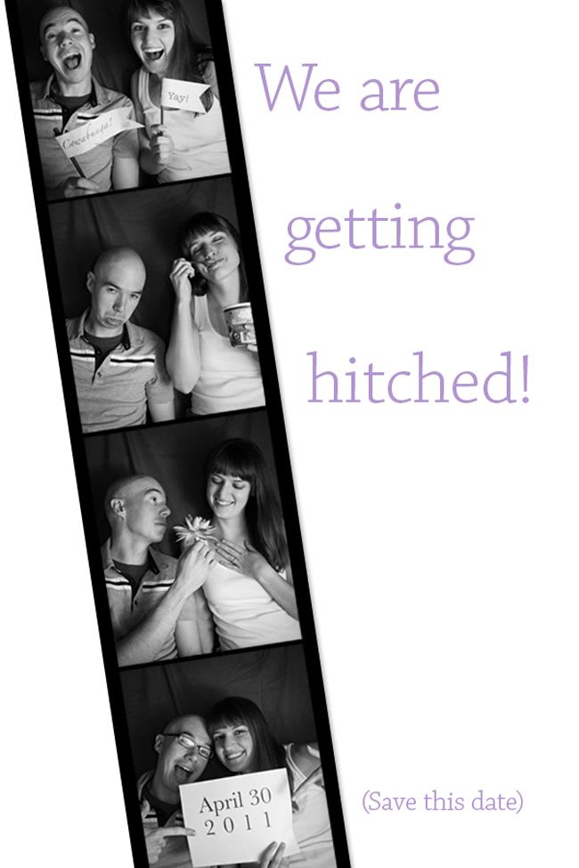 The save-the-date for our wedding