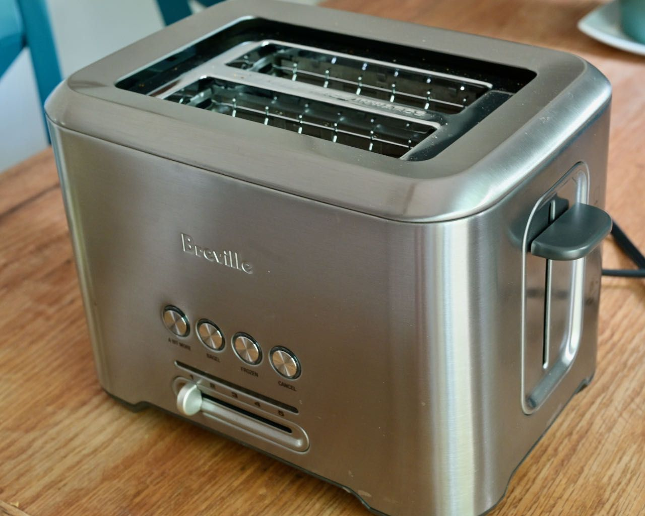 A shiny Breville toaster